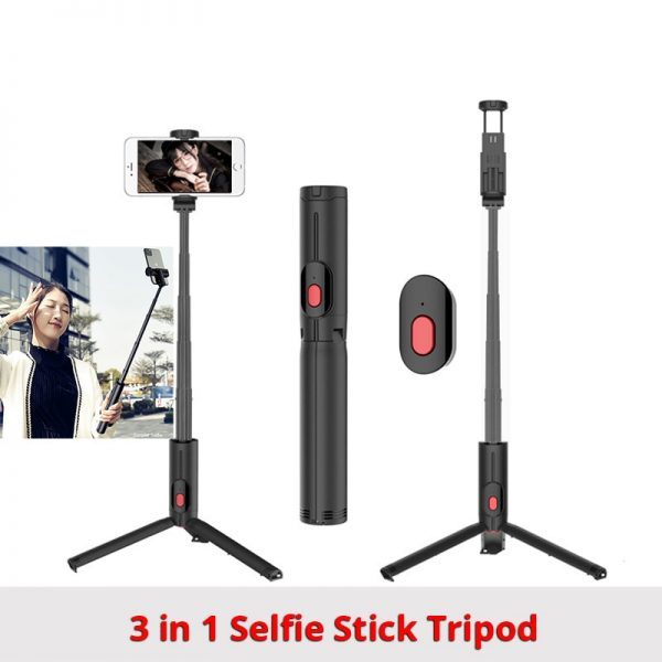 New Wireless Bluetooth Selfie Stick Tripod Foldable Tripod Monopods Universal for Smart Phones for Gopro Sports Action Camera