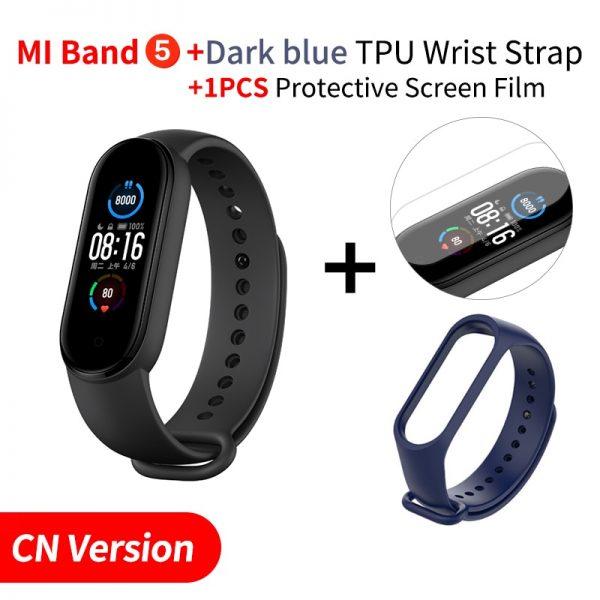 "Original Xiaomi Mi Band 5 Smart Bracelet 1.1"" AMOLED Colorful Screen Heart Rate Fitness Tracker Bluetooth 5.0 Waterproof Miband5"