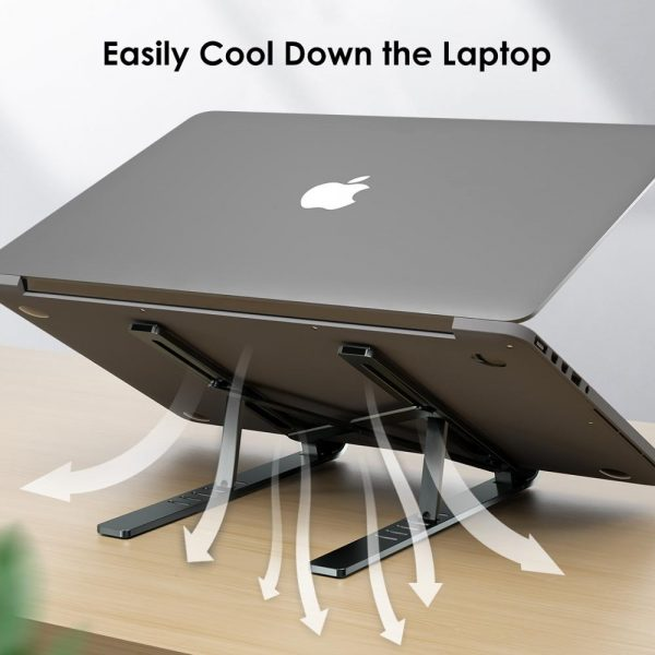 LINGCHEN Laptop Stand for MacBook Pro Air Notebook Foldable Aluminium Alloy Laptop Holder Bracket Laptop Holder for Notebook